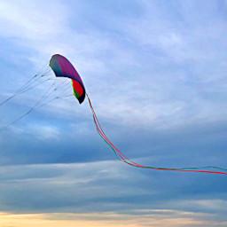 kite sunset whimsical colorful sky freetoedit