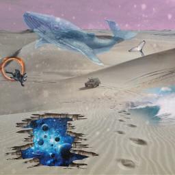 freetoedit surrealism galaxy whale flyingwhale