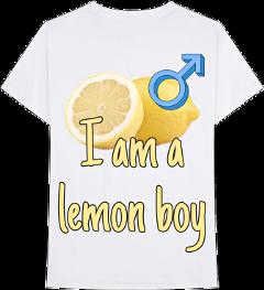 lemonboy lemon shirt sticker cavetown freetoedit
