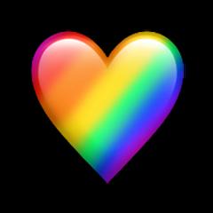 rainbowheart rainbow heartemoji emoji rainbowemoji freetoedit