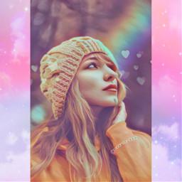 freetoedit rainbow aesthetic pastel holographic
