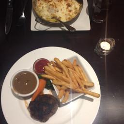 food steak dinner