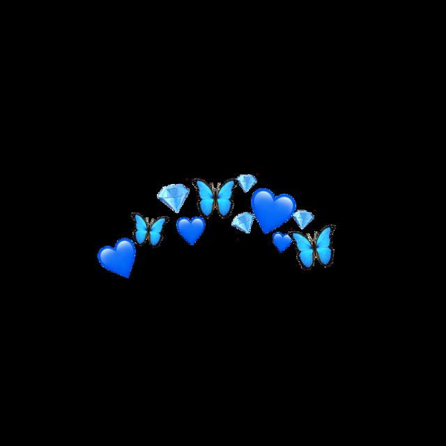 #heartcrown #blueheartcrown #bluecrown #blue #crown #butterfly #diamond #emojimix #freetoedit