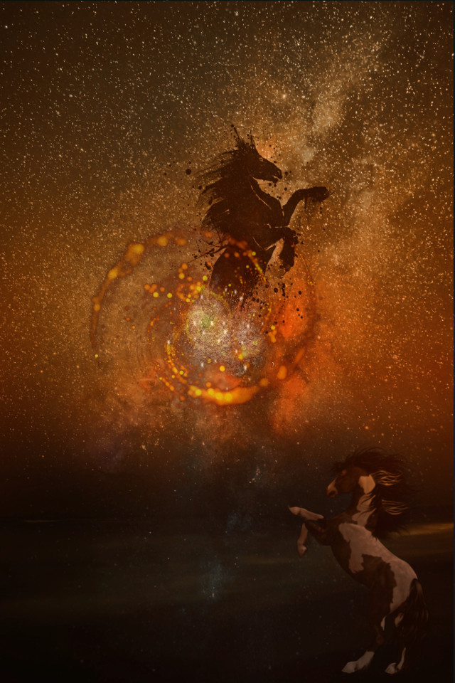 #freetoedit #stars #horses #sky #fantasy #himmelspferd #galaxy #galaxyhorse