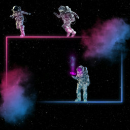 freetoedit space neon astronaut rectangle ftestickers ·························•••᎒▲᎒•••························· •ⓞⓝⓛⓨꞁ∀ni⅁iꞟoⓒⓞⓝⓣⓔⓝⓣ• ftestickers