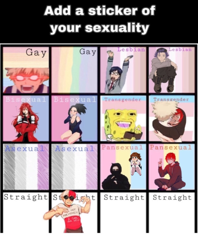 #freetoedit ihad toadd mine to an already taken box because both were taken #pansexualpride #loveislove #pride #anime #mha