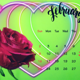 freetoedit stickers february month calander