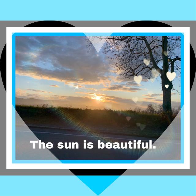 The sun 💙❤️💙💙 #freetoedit
