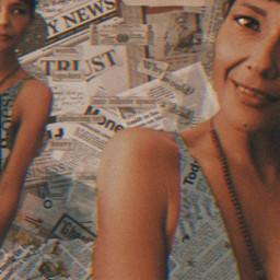 freetoedit trustissues newspaper print selfie