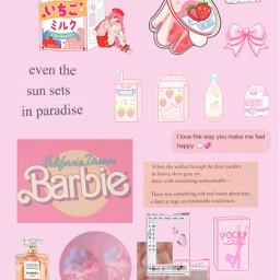 freetoedit pink wallpaper barbie cute