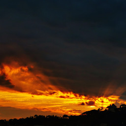 sunset rome sun clouds rayofsunlight
