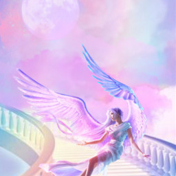 freetoedit fantasyart angel stairs staircase