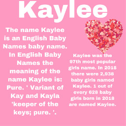 kaylee meaning popularity freetoedit