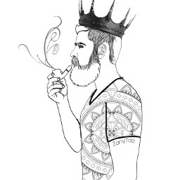 freetoedit king crown outline outlineart