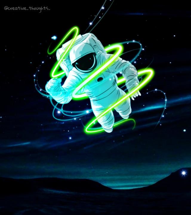 #freetoedit #astronaut #brush #neon #swirls #space #spaceremix #star