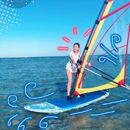 freetoedit sea windsurfing redsea blue