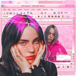 freetoedit billie eilish ccpinkaesthetic pinkaesthetic