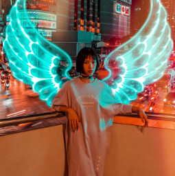 freetoedit wings neon neonwings angel