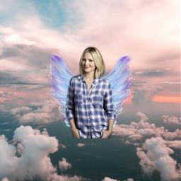 freetoedit thegoodplace kristenbell angel wings srcangelwings angelwings