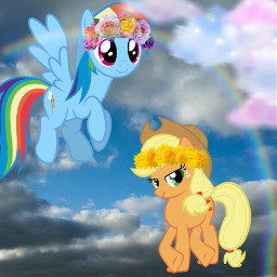 appledash applejack rainbowdash mlp mylittlepony