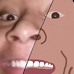 cartoonized faceart cartoonface freetoedit