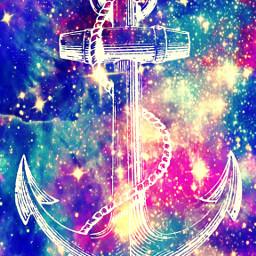 freetoedit glitter sparkle galaxy anchor