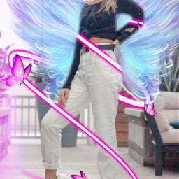freetoedit annieleblanc wings night neonswirl