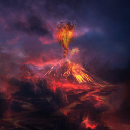 freetoedit volcano eruption lava