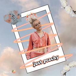peach zoe aesthetics swirl whiteroses freetoedit