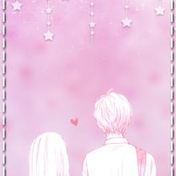 freetoedit love parejaanime pink aesthetic