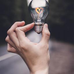 freetoedit remixit lamp hand heart