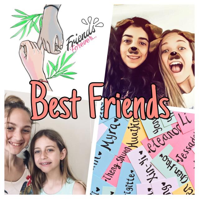 #bestfriends #bffs4ever #siseefriendship #colorful #friendsforever #freetoedit