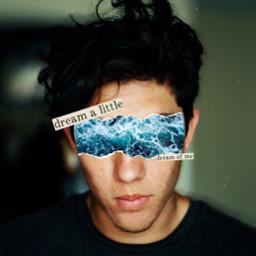 freetoedit boy guy outfit papel paper papercut ocean mar oceano water