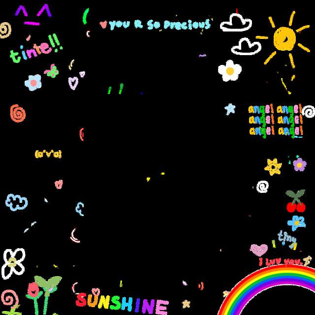 #doodle #cute #tiny #border #frame