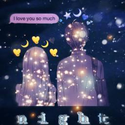 freetoedit goodnight love couple coupleaesthetic