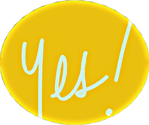 #yes #text #exclamationmark #yellow #white #remixit #shapemask #oval #freetoedit