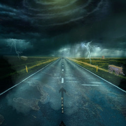 freetoeditsticker galaxy sky thunderstorm