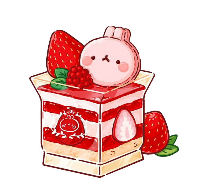#molang #strawberry #valentinesday #freetoedit