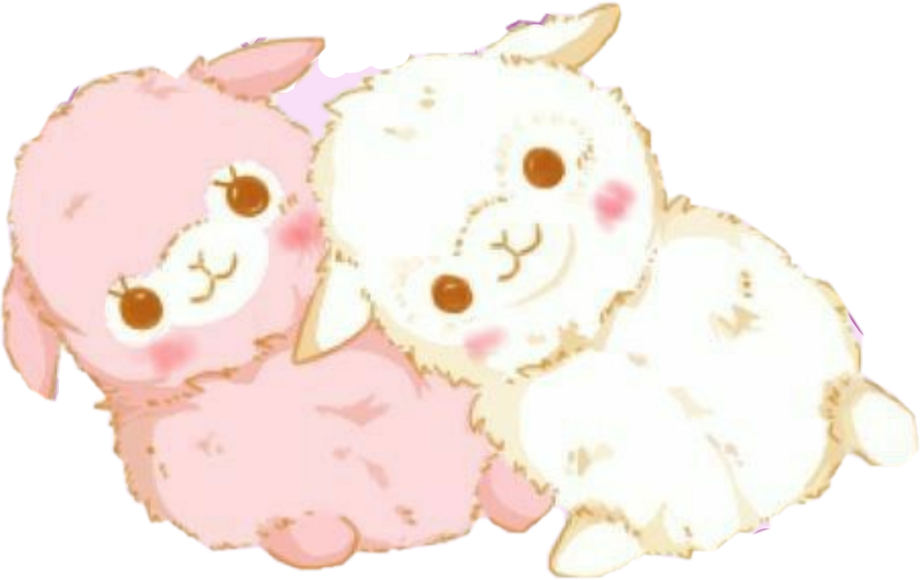 #freetoedit #cute #kawaii #llama #llamas #pink #white