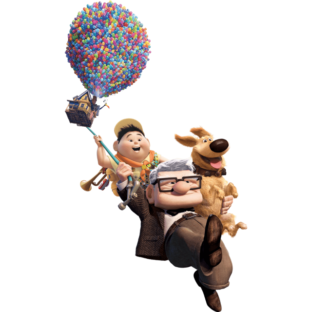 Up #animated #movie #characters #all #cast #balloon #fly #scene #freetoedit #remixit