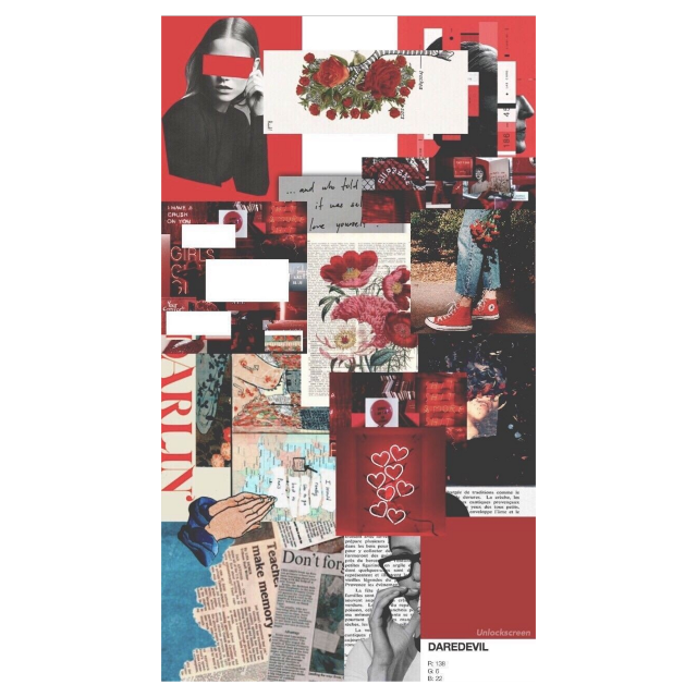 #red #collage #pictures
