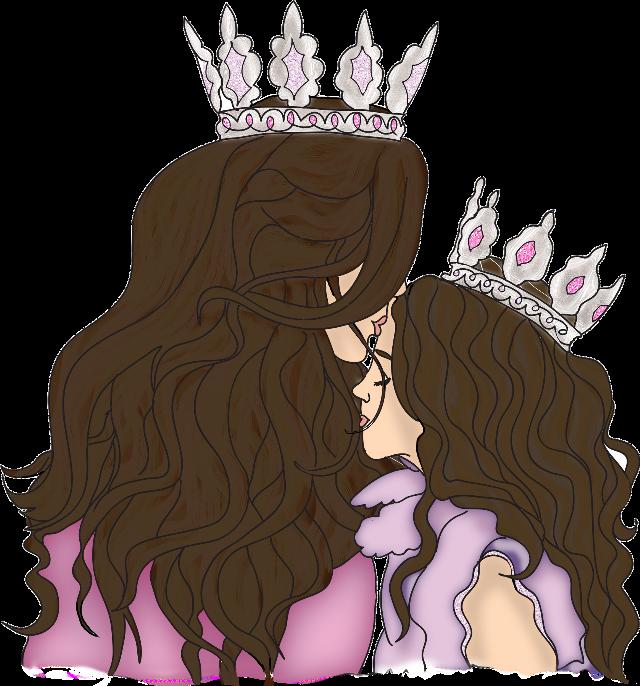 #motheranddaughter #motherdaughterlove #motherdaughterbond #myqueen #myprincess #mother #mom #mum #mam #princess #littleprincess #mothersday #crown #kiss #freetoedit