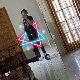 freetoedit neon triangles blueandred