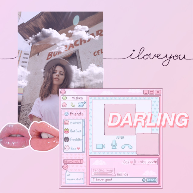 Happy Early Valentines    ♡♥︎  #freetoedit add you own spark                                                                    ˚✧₊⁎❝᷀ົཽ≀ˍ̮❝᷀ົཽ⁎⁺˳✧༚   #valentines #aesthetic #computer #iloveyou #lips #remixit #remixed #challenge #pink #heypicsart