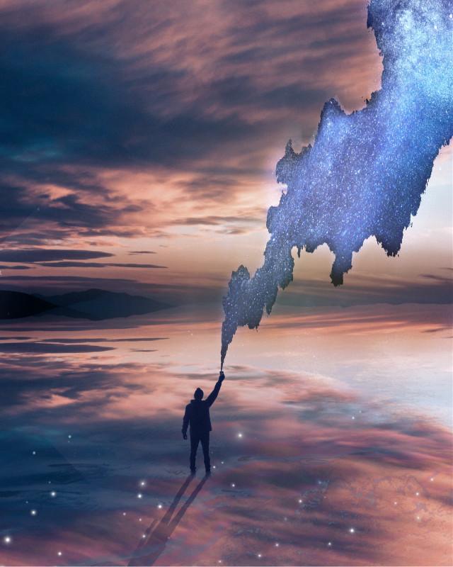 #freetoedit #space #stars #galaxy #man #sky