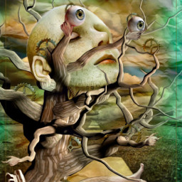 tree mind key surreal freetoedit