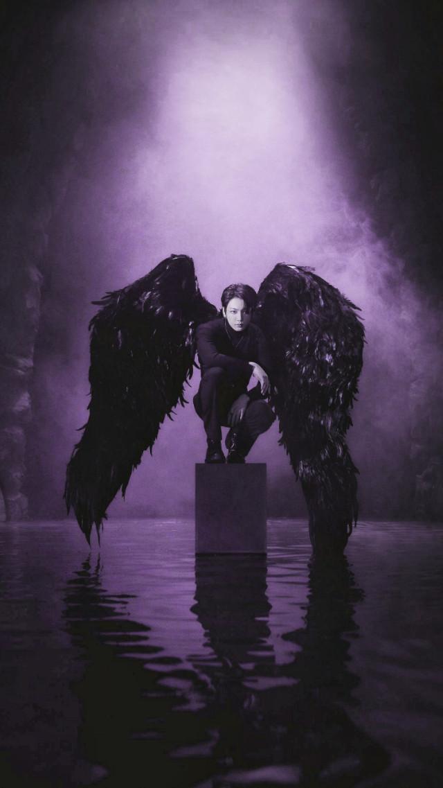 #jungkook #jungkookbts #JK #Kookie  #BTS #bangtan #bangtansonyeondan #Wings #Purple #Black #blackswan  #freetoedit