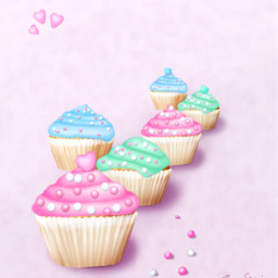 mydrawing valentinesday cupcakes pastel sweets freetoedit