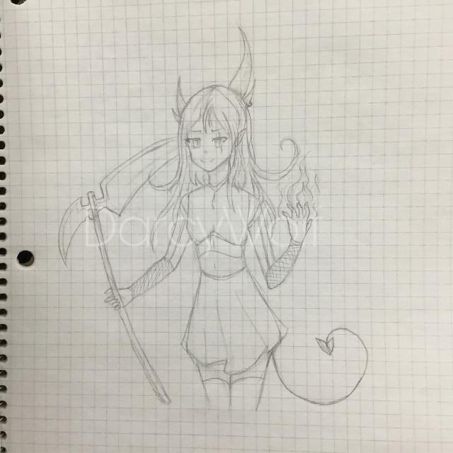 #art #anime #fire #demon