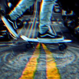 freetoedit manipulation madewithpicsart surreal skaterboy
